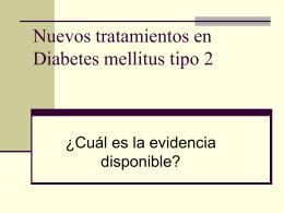 Nuevos tratamientos en Diabetes
