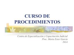 Procedimientos I - Poder Judicial Tucumán