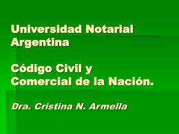 UNA Código Civil y Comercial
