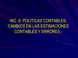 NIC 8 Politicas Contables