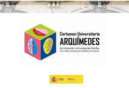 Certamen Arquímedes www.educacion.es