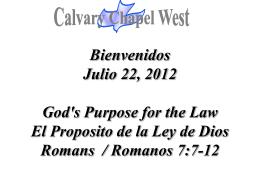 el nombre de dios - Calvary Chapel West