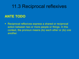 11.3 Reciprocal reflexives