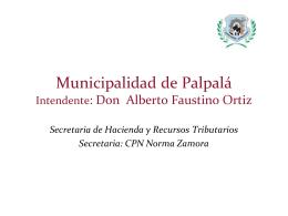17. Municipalidad de Palpalá Provincia de Jujuy.
