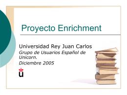 Proyecto Enrichment - URJC - Universidad Rey Juan Carlos