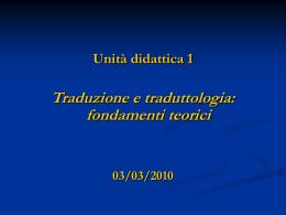 01-Traduzione e traduttologia