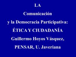 Ponencia 1 Etica Guillermo Hoyos