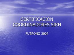CERTIFICACION COORDINADORES SIRH