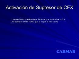 SUPRESOR CFX