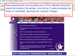 Panamericanos Handball 2007 Brasil