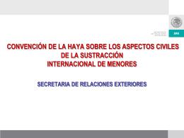 CONVENCIÓN DE LA HAYA SOBRE LOS ASPECTOS CIVILES DE