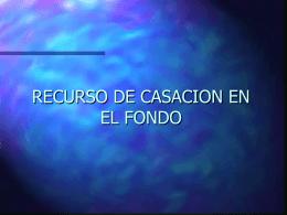 RECURSO DE CASACION EN EL FONDO - U