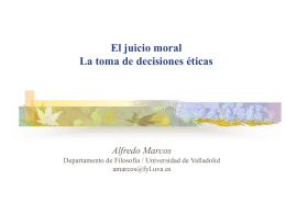 El juicio moral, Power Point