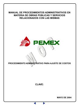 procedimiento administrativo para ajuste de costos clave: manual