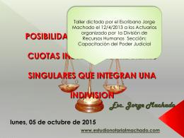 tipos de indivision - Estudio Notarial Machado