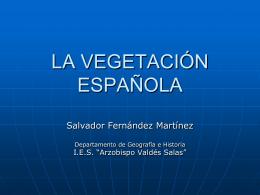 LA VEGETACIÓN ESPAÑOLA