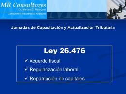 Ley 26476 - Regularizacion Impositiva (Titulo I )