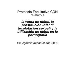 Protocolo Facultativo CDN relativo a la venta de niños, la