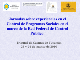 Red Federal de Control Público - Sindicatura General De La Nación