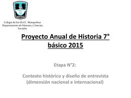 Etapa 2 Proyecto Anual - Colegio SS.CC. Manquehue