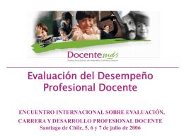 Desempeño Docente - I Municipalidad de Huasco