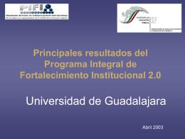 Presentación PIFI-UDG - Universidad de Guadalajara