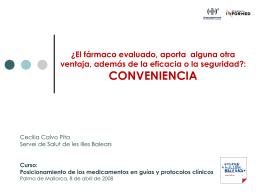 Conveniencia - El Comprimido