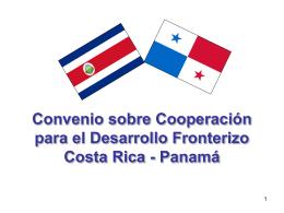 Presentación Convenio Fronterizo Costa Rica