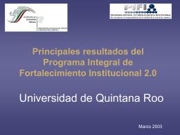 Análisis resultados PIFI 2.0 - Sistema Institucional de Gestión de la