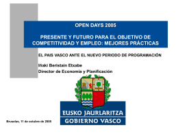 3. El País Vasco, buena práctica en la gestión de fondos