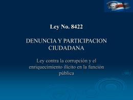 Ley No. 8422