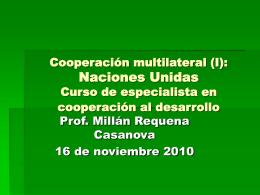 Cooperacion Multilateral - Cooperación Internacional para el