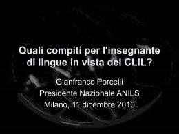 Quali compiti per l`insegnante di lingue in vista del CLIL?