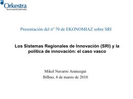Los Sistemas Regionales de Innovación