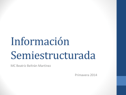 Información Semi estructurada