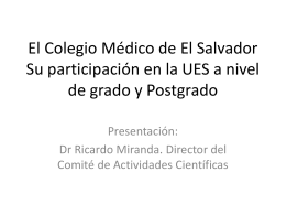 Participación del Colegio Médico en las carreras y posgrados de la
