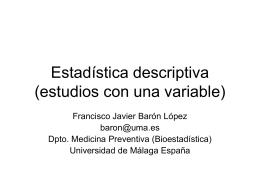 estudios con una variable - Bioestadística