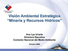 Vision Ambiental Estrategica - Mineria y Recursos Hidricos