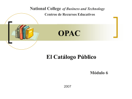 ¿Cómo usar OPAC (Catálogo de la Biblioteca)?