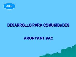 Aruntani - Ministerio de Energía y Minas