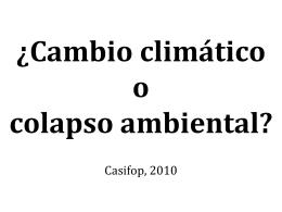 El cambio climático en la agenda de la ANAA