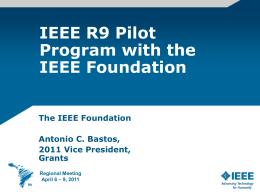 Plan Piloto de la Fundación IEEE en Región 9(Antonio Bastos