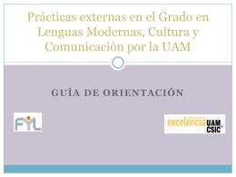 Prácticas externas en LMCC - Facultad de Filosofía y Letras