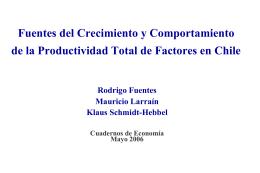 Fuentes del Crecimiento y Comportamiento de la Productividad