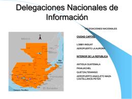 DELEGACIONES NACIONALES DE TURISMO EN GUATEMALA