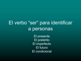 """Practica con el verbo """"ser"""""""