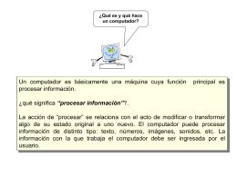 procesar información