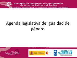 Presentación Panorama regional de los avances legislativos en