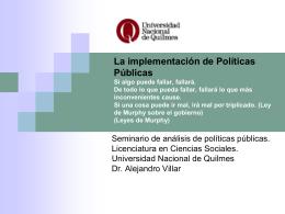 la implementación_f - Universidad Nacional de Quilmes