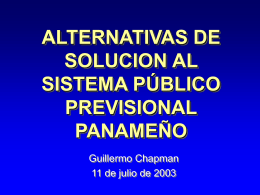 alternativas de solucion al sistema público previsional panameño